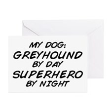 Greyhound Superhero Greeting Cards (Pk of 10)