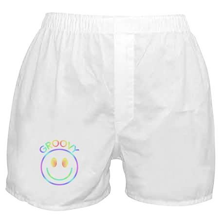 Retro Pastel Groovy Smiley Boxer Shorts