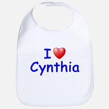I Love Cynthia (Blue) Bib