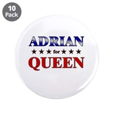 """ADRIAN for queen 3.5"""" Button (10 pack)"""
