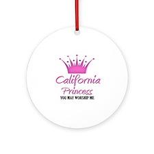 California Princess Ornament (Round)