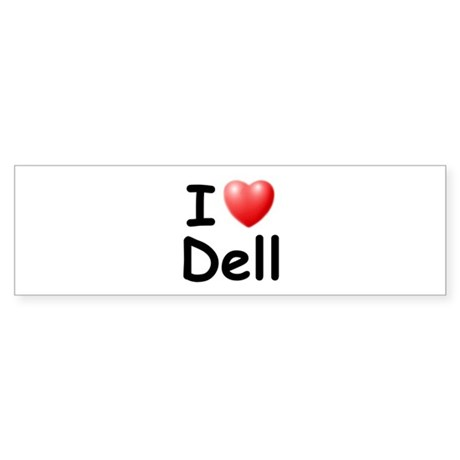 I Love Dell (Black) Bumper Sticker