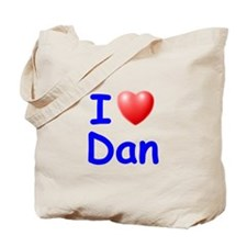 I Love Dan (Blue) Tote Bag