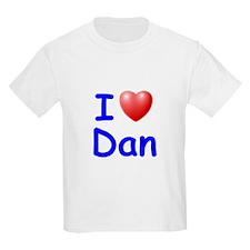 I Love Dan (Blue) T-Shirt