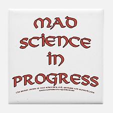 Mad Science in Progress Tile Coaster