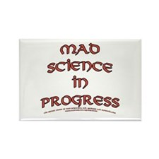 Mad Science in Progress Rectangle Magnet