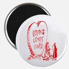 Valentine's Day Cave Man Magnet