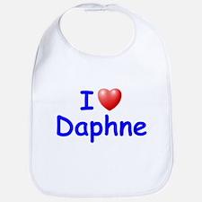 I Love Daphne (Blue) Bib