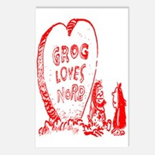 Valentine's Day Cave Man Postcards (Package of 8)