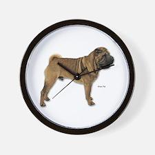 Shar Pei Dog for Shar Pei Lovers Wall Clock