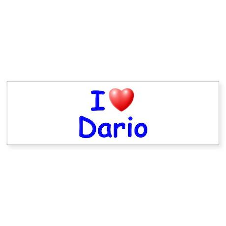 I Love Dario (Blue) Bumper Sticker