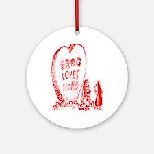 Valentine's Day Cave Man Ornament (Round)