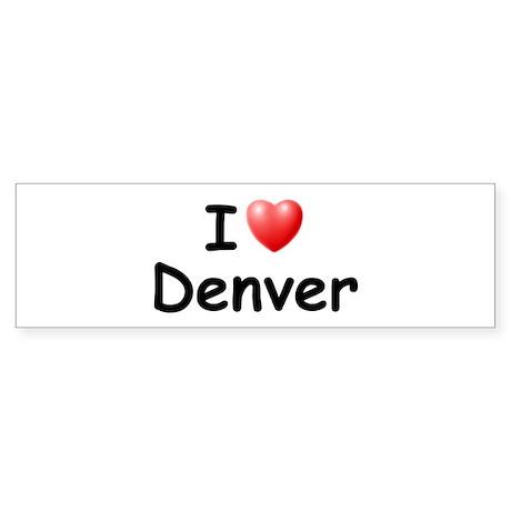 I Love Denver (Black) Bumper Sticker