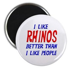 I Like Rhinos Magnet