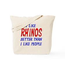 I Like Rhinos Tote Bag