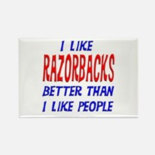 I Like Razorbacks Rectangle Magnet