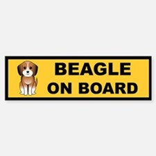 Beagle On Board Bumper Bumper Bumper Sticker
