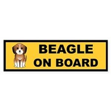 Beagle On Board Bumper Bumper Sticker