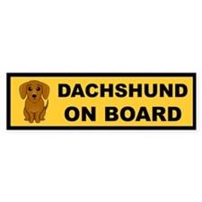 Smooth Dachshund on Board Bumper Bumper Sticker