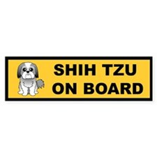 Shih Tzu on Board Bumper Bumper Sticker