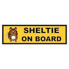 Sheltie On Board (sable) Bumper Bumper Sticker