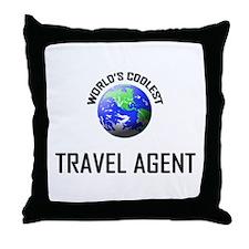 World's Coolest TRAVEL AGENT Throw Pillow