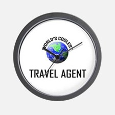 World's Coolest TRAVEL AGENT Wall Clock