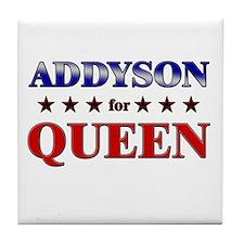 ADDYSON for queen Tile Coaster