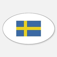 Sweden Flag Oval Decal