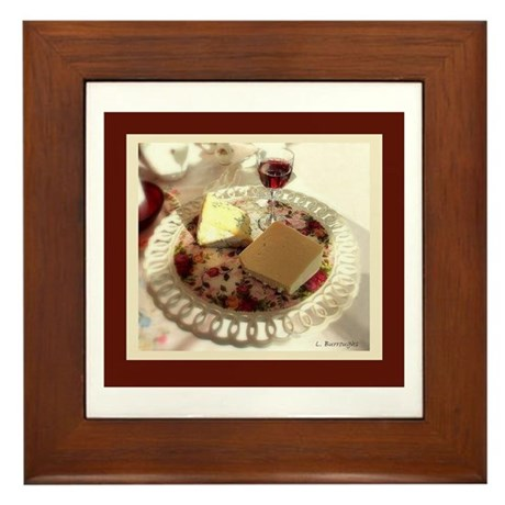Wine and Cheese Framed Tile