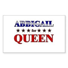 ABBIGAIL for queen Rectangle Decal