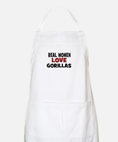 Real Women Love Gorillas BBQ Apron