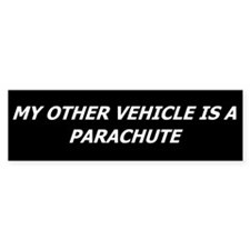 Skydiving Bumper Car Sticker