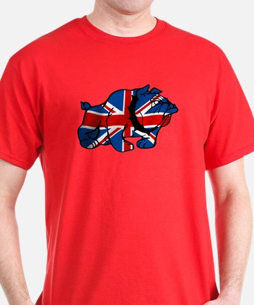 Union Jack Brit Bulldog T-Shirt