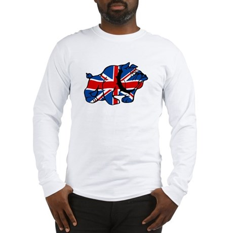 Union Jack Brit Bulldog Long Sleeve T-Shirt