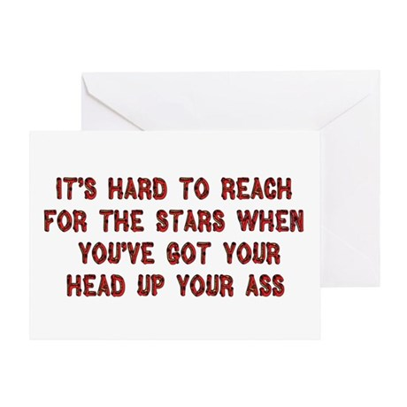 Ass In The Stars Greeting Card