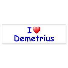 I Love Demetrius (Blue) Bumper Bumper Sticker