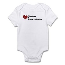 Justus is my valentine Infant Bodysuit