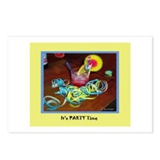 """""""It's Party Time"""" Invitations Postcards (Package o"""