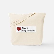 Jorge is my valentine Tote Bag