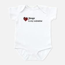 Jorge is my valentine Infant Bodysuit