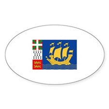 Saint Pierre and Miquelon Oval Decal