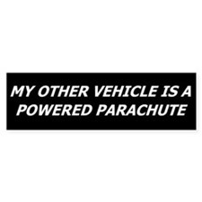 Powered Parachute Bumper Bumper Sticker