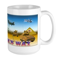 Masonic IN HARMS WAY Peace Makers Large Mug