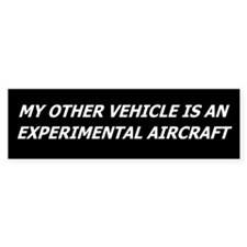 Experimental Aircraft Bumper Stickers