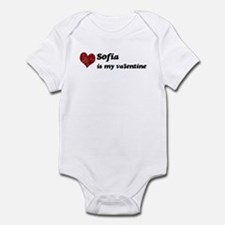 Sofia is my valentine Infant Bodysuit