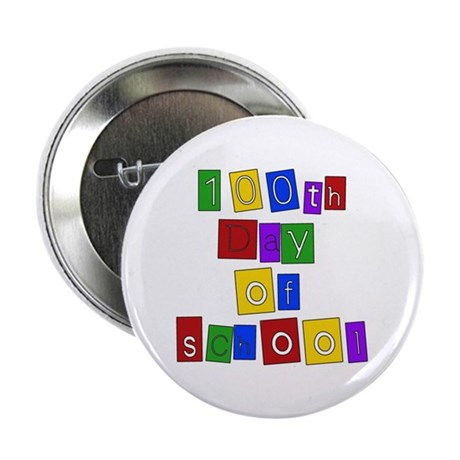 "Bright Colors 100th Day 2.25"" Button (10 pack)"