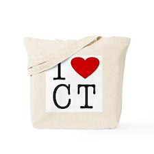 I Love Connecticut (CT) Tote Bag