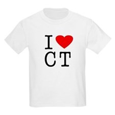 I Love Connecticut (CT) Kids T-Shirt