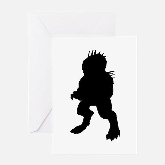 Chupacabra Silhouette Greeting Card